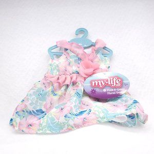 Doll Clothes My Life Floral Dress Outfit Pink Dres